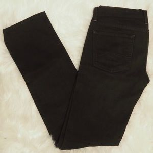 Seven For All Mankind Black Skinny Jeans